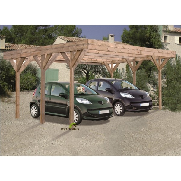 carport double enzo 2 voitures trait madeira achat. Black Bedroom Furniture Sets. Home Design Ideas