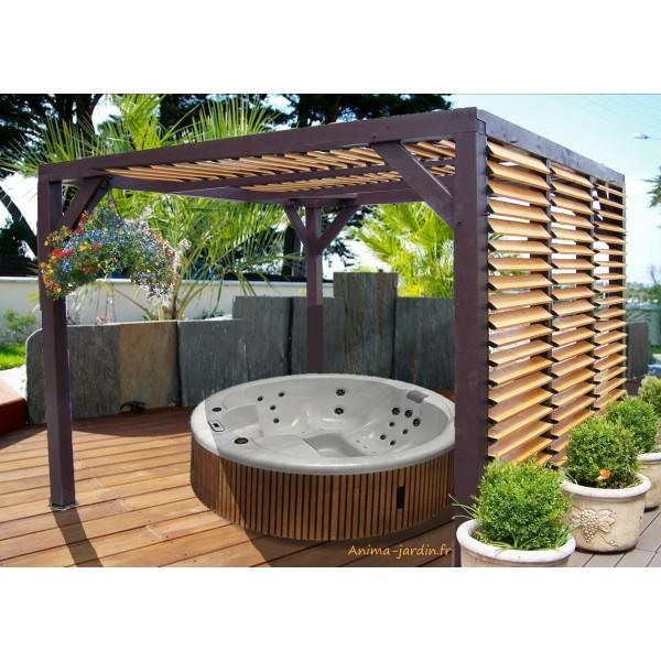 pergola veneto ombrag e avec ventelles carport design 12m. Black Bedroom Furniture Sets. Home Design Ideas