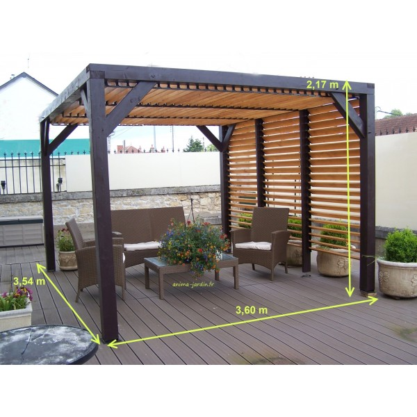 pergola veneto ombrag e avec ventelles carport design 12m. Black Bedroom Furniture Sets. Home Design Ideas