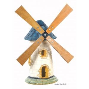 Moulin de jardin, Ardoise, décoration de jardin, 56cm, achat pas cher