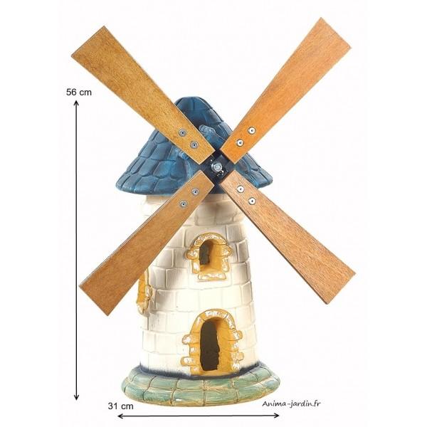 Moulin de jardin ardoise d coration de jardin 56cm pas for Deco de jardin pas cher