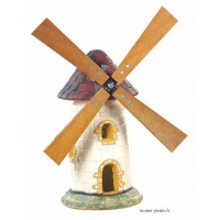 Moulin de jardin, Tuile, décoration de jardin, 56cm, achat pas cher