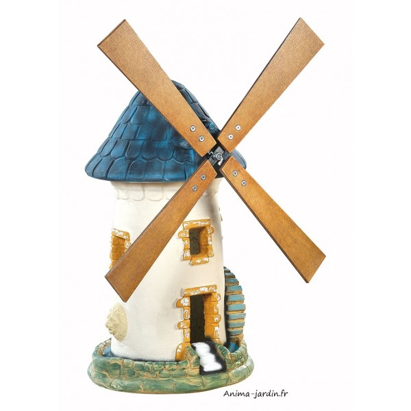 Moulin vent ardoise d coration de jardin 68 cm achat for Achat de decoration
