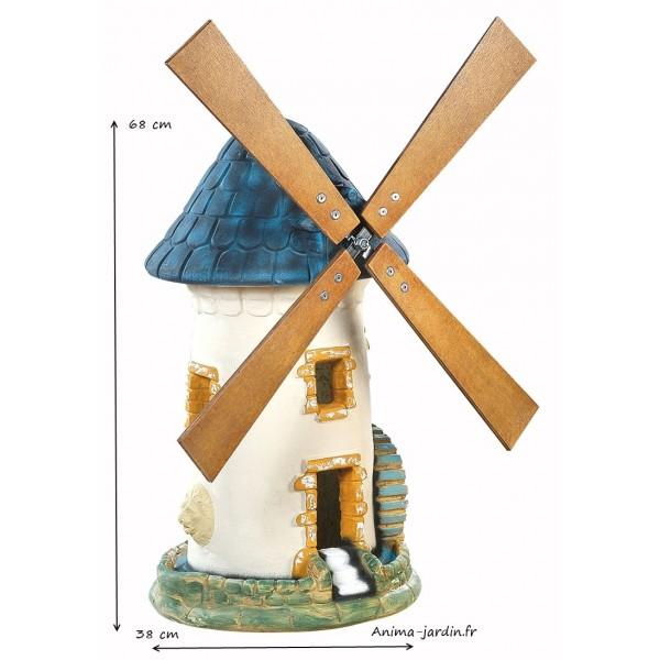 moulin vent ardoise d coration de jardin 68 cm achat. Black Bedroom Furniture Sets. Home Design Ideas