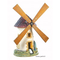 Moulin avec roue, Tuile, décoration de jardin, 54 cm, achat pas cher