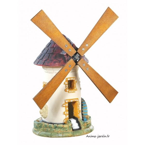 Moulin avec roue tuile d coration de jardin 54 cm for Decoration achat