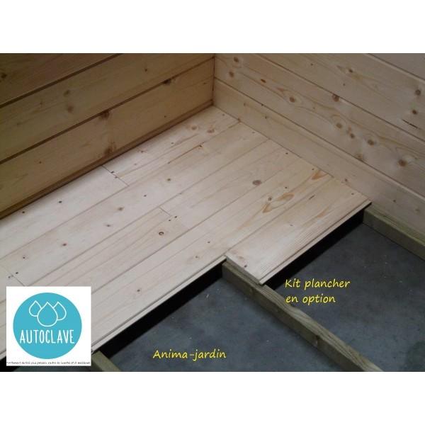 Abri de jardin en bois autoclave, Dainville, toit arrondi, 5,88m², Solid