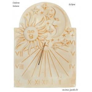 Cadran solaire de Jardin, Eclipse, horloge solaire en pierre, Gnomon