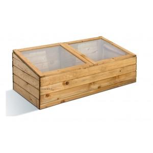 Serre châssis de jardin en bois, 100x50cm, Burger, pas cher, achat
