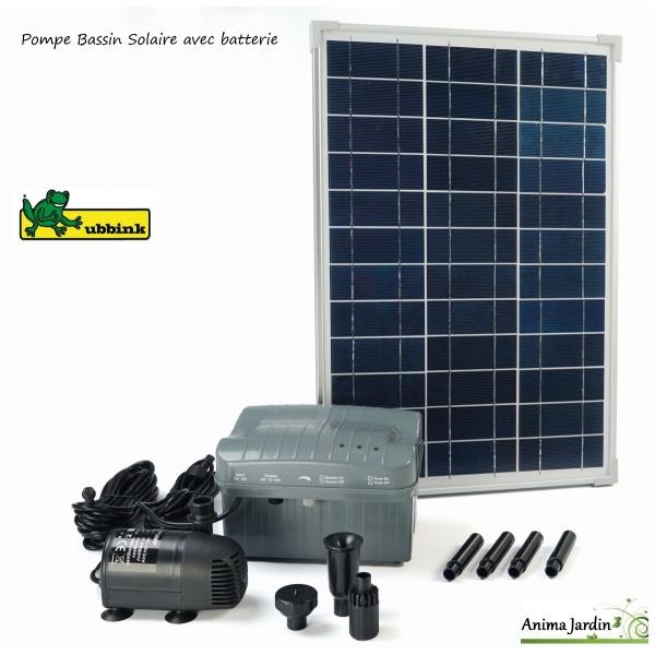 Pompe eau panneau solaire pour bassin solarmax 1000 ubbink for Pompe de bassin filtrante