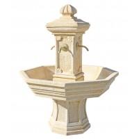 Fontaine ADONIS  ocre en pierre reconstituée, h 155cm Framusa grandon