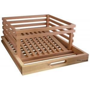 Tiroir Pomme de terre en bois pour légumier, garde manger, masy, 242