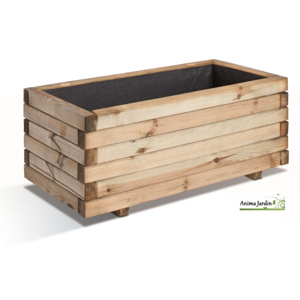 jardini re 80 cm bois pour plantes stockholm autoclave achat vente. Black Bedroom Furniture Sets. Home Design Ideas
