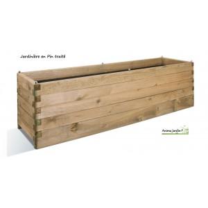 Grande jardinière Bois 180cm pour Plantes, autoclave, achat/vente