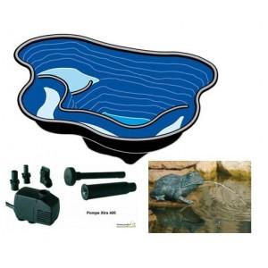 Petit bassin 145 litres en résine équipé avec pompe, et grenouille, achat