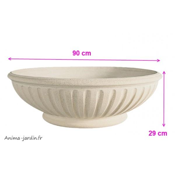 vasque renaissance 90 cm pierre reconstitu e coupe basse achat. Black Bedroom Furniture Sets. Home Design Ideas