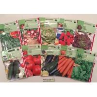 Lot 10 paquets graines légumes, courgette, épinard, concombre, tomate, carotte, radis, persil, pas cher