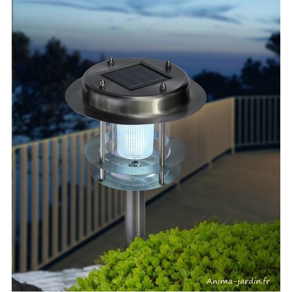 Borne solaire atlantic planter esprit marin 2 leds for Borne solaire jardin