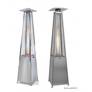 Parasol chauffant GAZ, extérieur, Sun Flamme Pyramide, design moderne