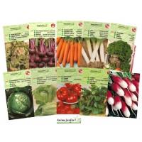 Lot 20 paquets graines légumes potager jardin ouvrier, radis, tomates, courgettes, carotte, poireau, pas cher, économique