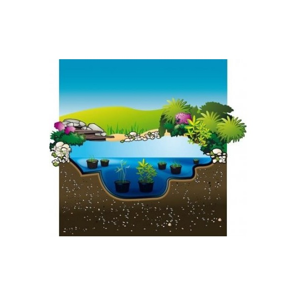 B ches pour bassins jardin aqualiner pvc ubbink for Toile etanche pour bassin