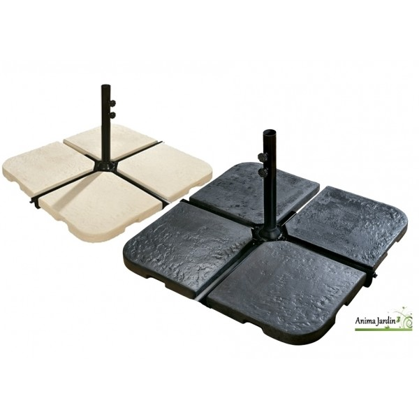 dalle en b ton pour pi tement de parasol fixation pied de parasol achat. Black Bedroom Furniture Sets. Home Design Ideas