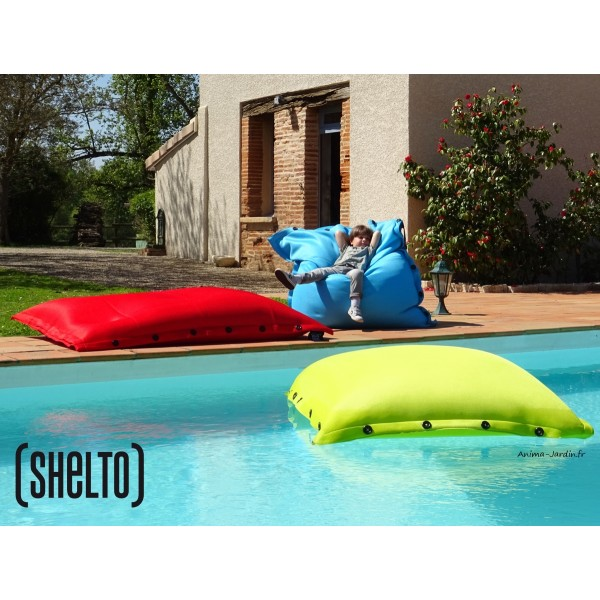 grand coussin piscine pouf 125x175 cm shelto pas cher achat. Black Bedroom Furniture Sets. Home Design Ideas