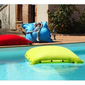 Coussin piscine, pouf 100x100 cm, flottant, Shelto, pas cher, achat