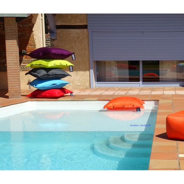 coussin piscine pouf 100x100 cm flottant shelto pas. Black Bedroom Furniture Sets. Home Design Ideas