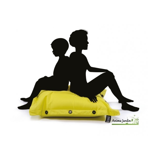 coussin piscine pouf 100x100 cm flottant shelto pas cher achat. Black Bedroom Furniture Sets. Home Design Ideas