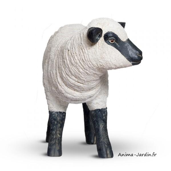 Agneau debout en fibre de verre petit mouton t te haute animal de la ferme - Deco jardin mouton toulon ...