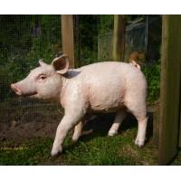 Cochon rose debout en fibre de verre, 60 cm, animal de la ferme, achat/vente