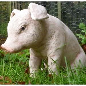 Cochon assis en fibre de verre, 37 cm, animal de la ferme, achat/vente, porc , petit cochon
