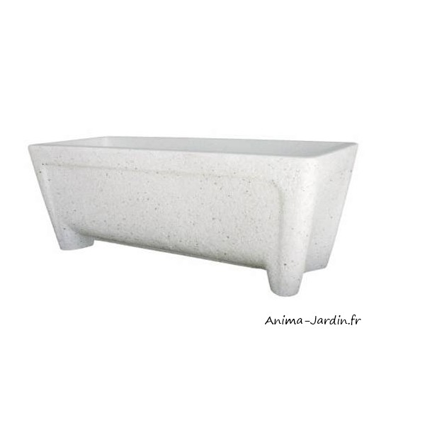 jardini re blanche rita en marbre reconstitu 115 cm. Black Bedroom Furniture Sets. Home Design Ideas