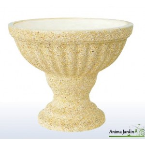 Coupe sur pied SAN REMO 64 OCRE/ALBERO en marbre grainé ocre framusa