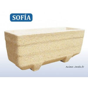 jardini re balconni re sofia en marbre grain ocre poterie de jardin. Black Bedroom Furniture Sets. Home Design Ideas