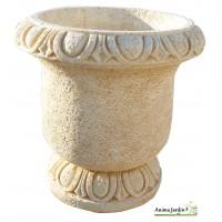 Pot Ancien en pierre reconstituée Delrey, ocre, ton vieilli, jarre, achat/vente