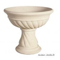 Vasque renaissance 56 cm, pierre reconstituée, coupe, contenant, achat