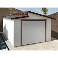 Garage bois porte coulissante, TORINO, Toit 2 pentes, Solid, pas cher