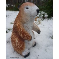 Marmotte debout en fibre de verre, 32cm, animal de la montagne, achat/vente