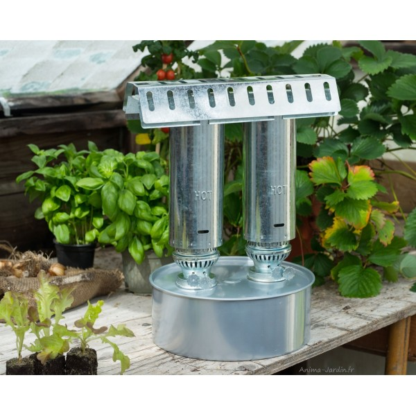 Chauffage la paraffine pour serre de jardin balcon 4m for Chauffage serre