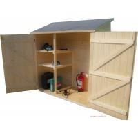 Abri mural en bois, armoire de rangement adossée, grand volume, foresta