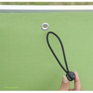 Lien, attache, élastique SNUGGER  pour installation des brise-vue à œillets, NORTENE