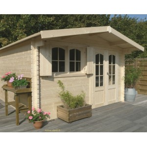 Abri de jardin en bois 40mm rignitz 2 portes solid pas for Grand abri de jardin pas cher