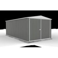 Grand garage métal 18m², Hervey, acier gris, achat/vente pas cher