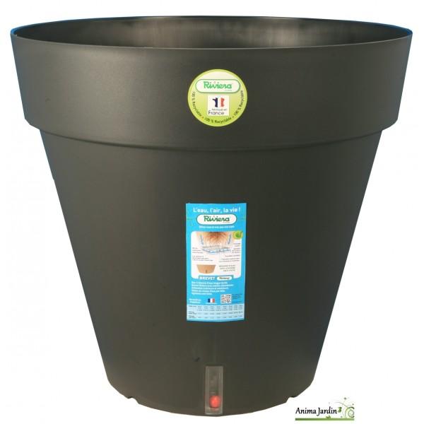 bac r serve d eau rond 59cm loft riviera bac plantes pas cher. Black Bedroom Furniture Sets. Home Design Ideas