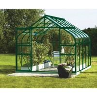 Serre de Jardin en verre et plexiglass, DIANA 8300, laqué vert, pas cher