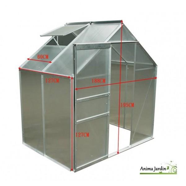Serre de jardin en polycarbonate aluminium 2 39m - Serre jardin polycarbonate caen ...