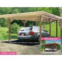 Carport bois autoclave, 6x5m, abri pour 2 voitures, Solid,  pas cher, S7724