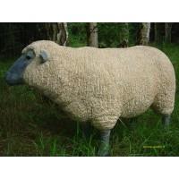 Mouton debout en résine beige, Brebis tête noire haute, animal de la ferme,  Jardin, achat